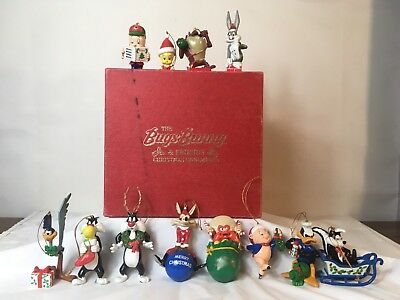 The Bugs Bunny & Friends Christmas Ornaments Collection Set Of Twelve FAST SHIP!
