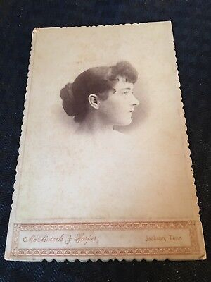 1800s Antique Cabinet Card Photograph Jackson Tennessee