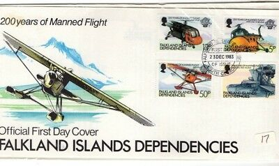 1983 Falkland Islands - 200 Years Of Manned Flights Fdc From Collection 8B/2