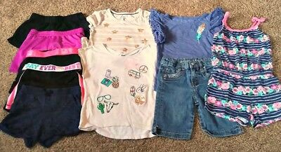 10 Pc. Girls Clothes Lot Size 5 Girls Clothing Mixed Lot Spring Summer Sz 4 5 6