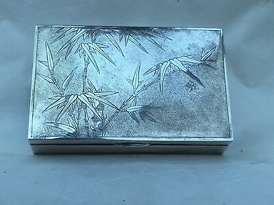 Antique Chinese Export Silver Cigarette Box, Tackhing, c.1910/20. A/F