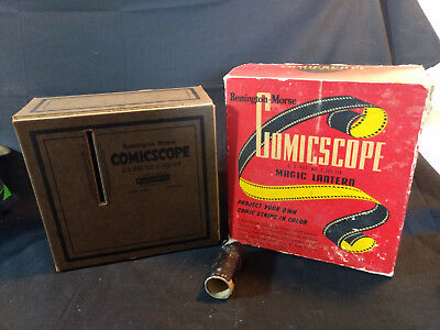 Old Vtg Comicscope Remington Morse Magic Lantern Picture Projector Boxes