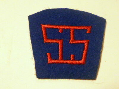 A  WW 2 U S Army  Service of Supply WW 1 Type  Embroidered Felt C/C Back Patch