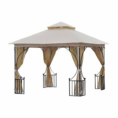 Skyline Fabric Gazebo By Christopher Knight Home Picclick Exclusive Outsunny Steel Outdoor Garden With Mosquito Netting