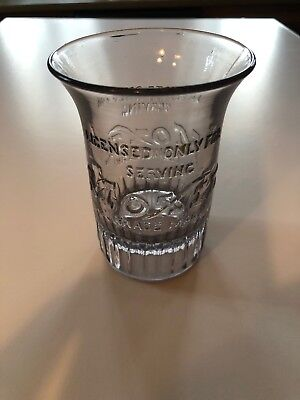 MOXIE POP GLASS TUMBLER VINTAGE OLD ORIGINAL CUP ADV SIGN Antique Soda Pop