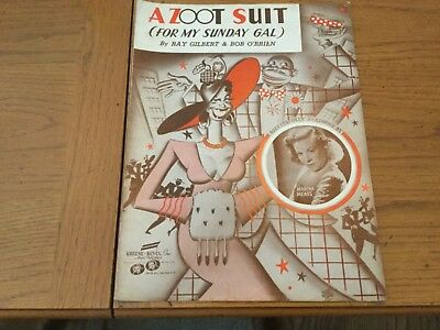 Sheet music, A Zoot Suit. (For My Sunday Gal)  1941 Gilbert, O'Brian