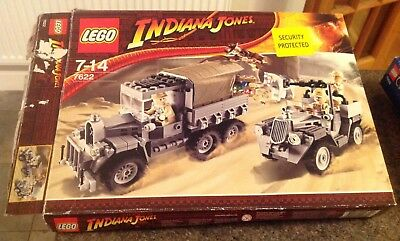 Complete Boxed Indiana Jones Lego Set Race For The Stolen Treasure +Instructions