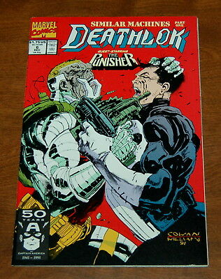 DEATHLOK  #6 1991 PUNISHER x-over ''SIMILAR MACHINES'' P/1 COWAN/ WILLIAM VF