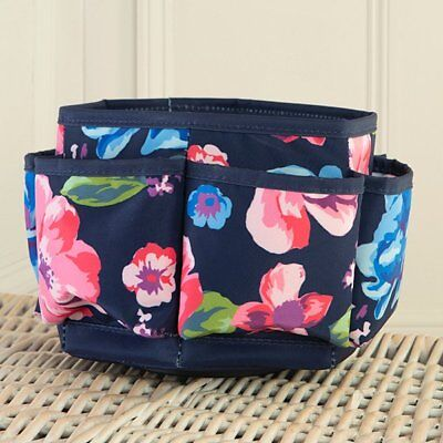 Everything Mary Navy Floral Spinning Organizer - Brand New