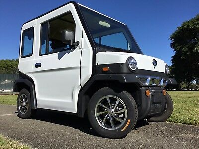 New 2018 White Revolution 4 LSV Street Legal 4 Passenger Seat Golf Cart Car