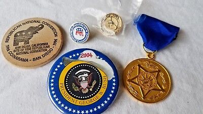 Vintage Lot Republican Political Buttons Republican Senatorial Medal Of Freedom
