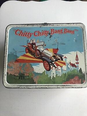Chitty Chitty Bang Band Bang Metal Lunch Box By Thermos Dated 1968