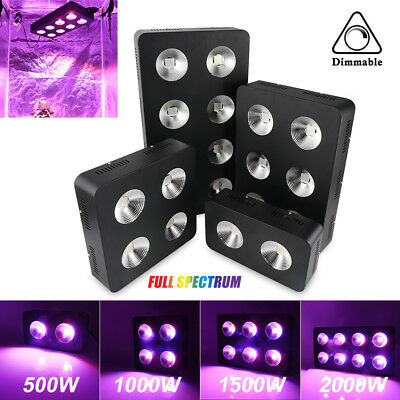 500W 1000W 1500W 2000W LED Grow Light Full Spectrum COB Chips Dimmable For Plant