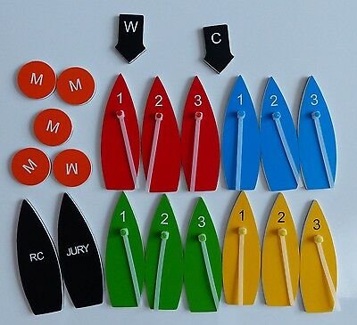 Standard magnetic boat set for coachs, sailors and race committees, protest kit