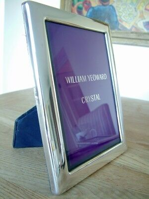 """VINTAGE 7"""" x 5"""" ENGLISH HM1998 SOLID SILVER PHOTO PICTURE FRAME CARRS NO RES"""