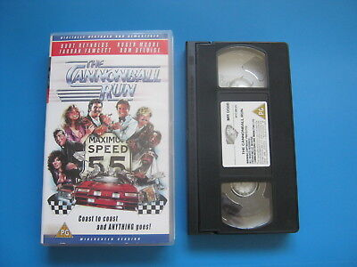 THE CANNONBALL RUN (1981) Burt Reynolds, Roger Moore CAR CHASE ACTION - VHS