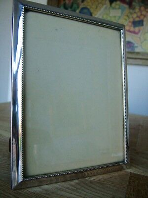 """VINTAGE 8"""" x 6"""" SOLID SILVER PHOTO PICTURE FRAME NO RESERVE"""