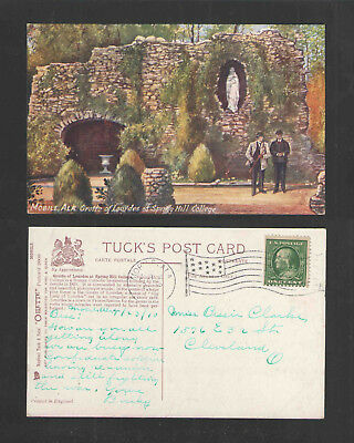 1910 Mobile Ala Grotto Of Lourdes At Spring Hill College Tuck # 2605 Postcard
