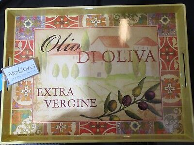 "Notions Serving Tray Olio Di Oliva 19 x 14"" Extra Virgin Olive Oil"