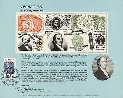 BEP Souvenir Card B99  Fractional Currency Collage Cancelled