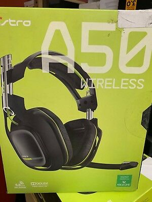 OB Astro A50 Wireless Gaming Headset for Xbox One Dolby Pro Logic IIx Black/Lime