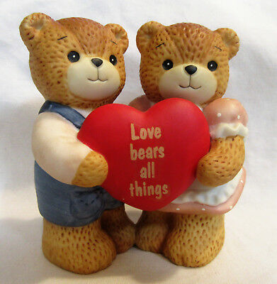 Lucy & Me ~ LOVE BEARS ALL THINGS ~ Valentine's Day Gift Porcelain Figurine