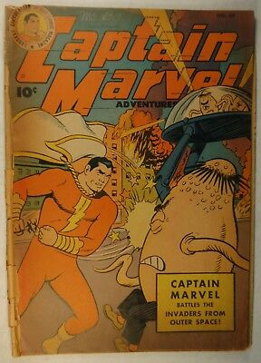 "Captain Marvel #65 (Sept 1946, Fawcett) ""The Invasion from Outer Space!"""
