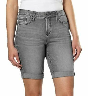 Brand New Women's Calvin Klein Jeans Bermuda City Shorts Night Tide Grey 421O32