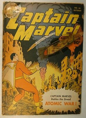 "Captain Marvel Adventures #66 (Oct 1946, Fawcett) ""The Dread Atomic War!"""