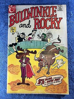 Bullwinkle and Rocky No.2 Vintage Charlton Comic Book