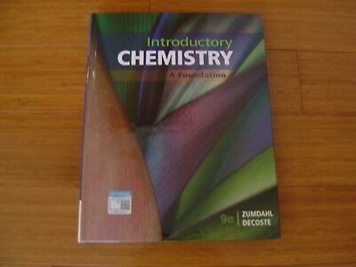 Introductory Chemistry A Foundation 9th  ninth Ed  Zumdahl Decoste New Hardcover