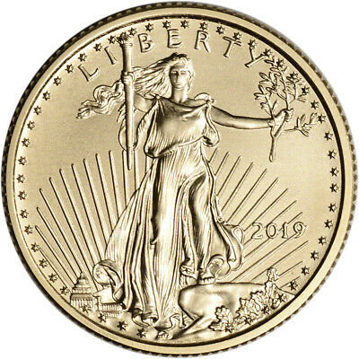 2019 American Gold Eagle 1/4 oz $10 - BU