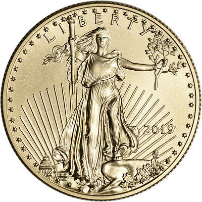2019 American Gold Eagle 1/2 oz $25 - BU