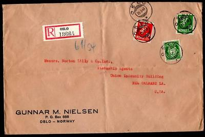 Norway Registered March 3 1940 Oslo to New Orleans LA