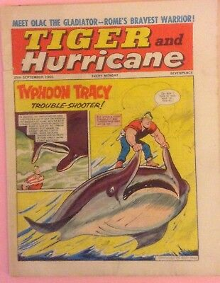 "VINTAGE ""TIGER and HURRICANE"" COMIC DATED  25th SEPTEMBER 1965"