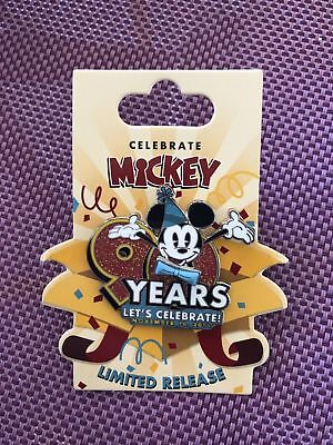 *New* Disney Mickey Mouse Happy 90th Let's Celebrate pin Limited Release LR