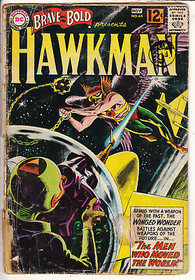 BRAVE and the BOLD V1 #44  G / G+   KUBET HAWKMAN 12ct 1962 AMERICAN DC COMIC C