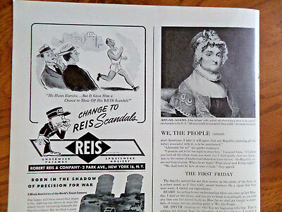 1944 REIS Underwear Ad Reis Scandals He Hates Exeercise Gives Chance to Show Off