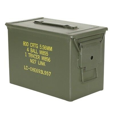(4 Pack) Fat 50 Cal Pa108 Saw Box Ammo Can Very Good Condition!
