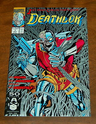 DEATHLOK # 1 JUL 1991 Silver Ink Collectors Issue VF/NM 9.0 Marvel Comics