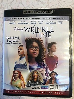 Disney A Wrinkle in Time 4K Ultra HD Blu-ray and Blu-ray NO DIGITAL CODE