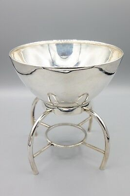 Codan Mexican Sterling Silver 925 Caviar Bowl on Stand, Modernist, Mid-Century