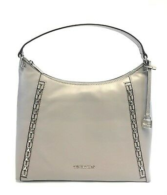 ece5967c8296 Brand New Women's Michael Kors Sadie Ash Grey Large Leather Shoulder Bag  Handbag