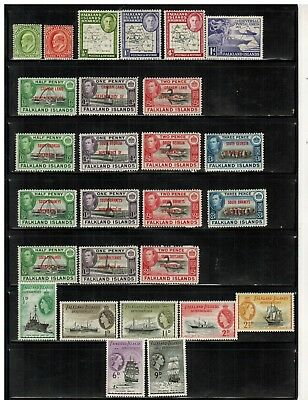 Lot of Falkland Is. Old Stamps MH