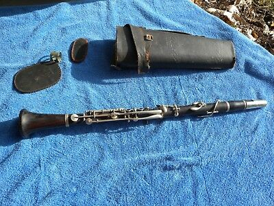 Antique Chapelain B Flat Clarinet Vintage France Wood Music Instrument Woodwind