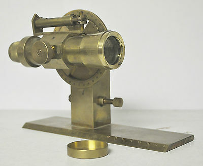 Stanley London Solid Brass Plane Table Alidade Scope (Clinometer?),Vintage, used