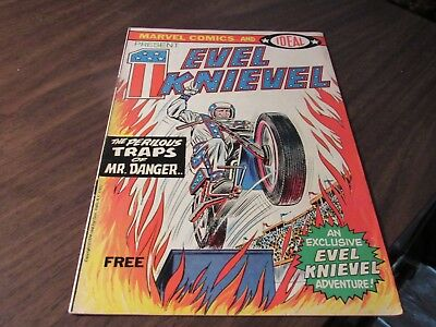Evil Knievel Marvel Comics and IDEAL Vintage 1974 Bronze Age Comic Book INDY