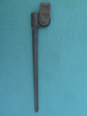 Us M1873 Model 1873 Trapdoor Springfield Bayonet Scabbard Only W Leather Loop