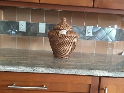 """Approximate 11 1/2"""" Rice Container  Basket (HAPAO KWAN JAR)"""