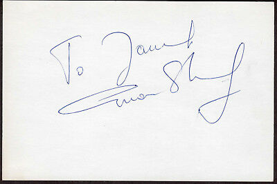 Omar Sharif Signed Autographed Index Card + Movie Still, The Melchior Collection